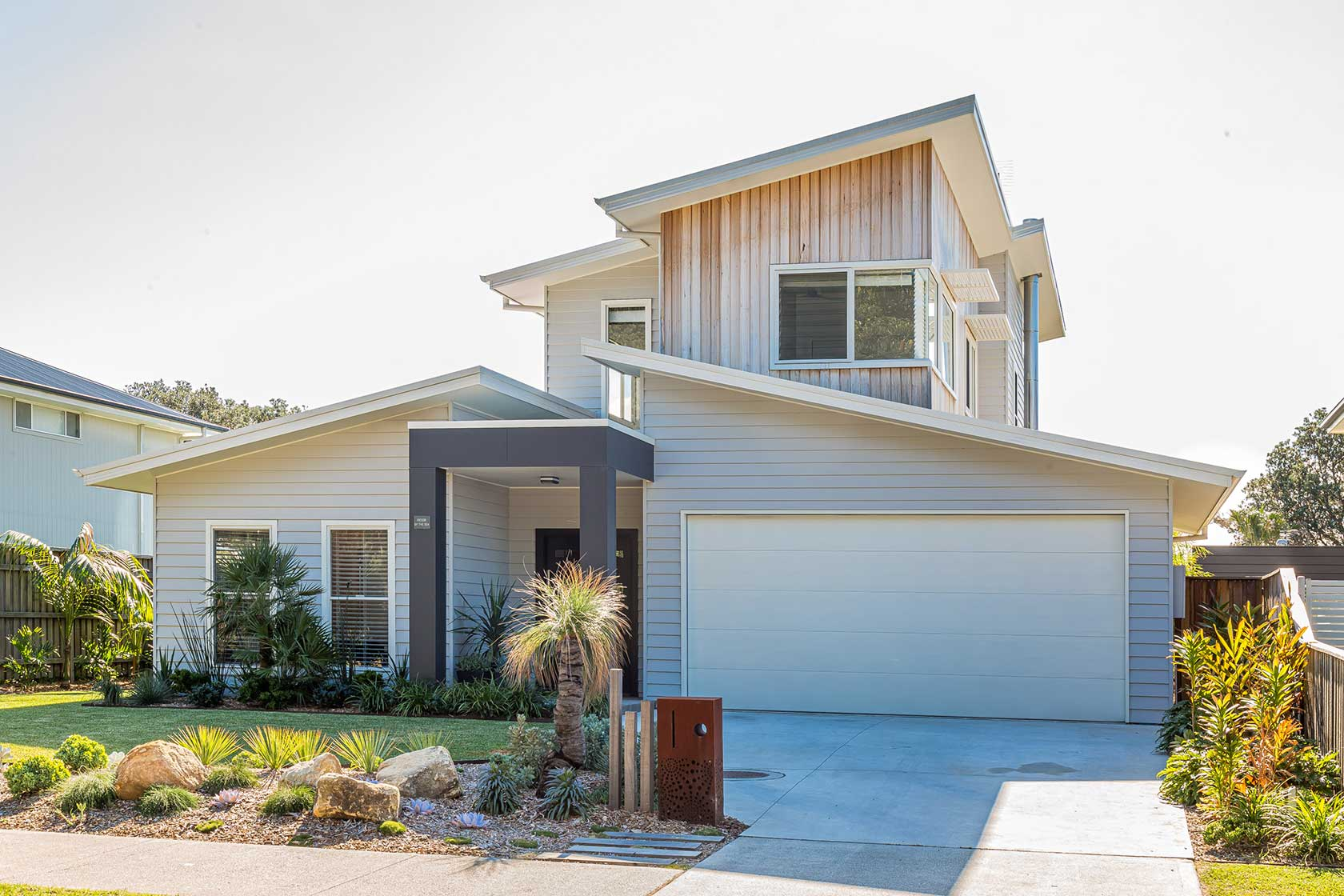 Modern two storey beach-style home with an open plan feel.